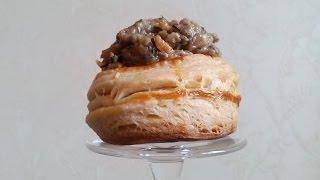 Волованы с грибной икрой! Ну очень вкусно и просто!!!