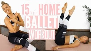 15min BALLET WORKOUT   At Home Full Body Workout