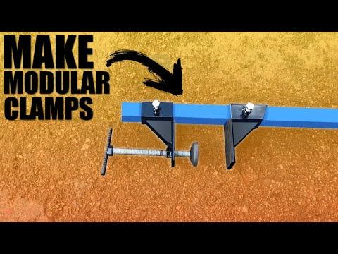 How to Make a homemade Modular Long Bar Clamps