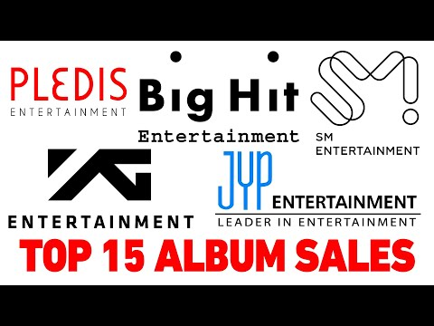 TOP 15 album sales of entertainment agencies in 2019