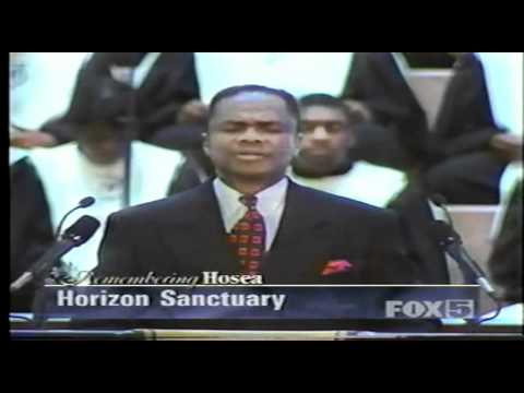 Hosea Williams Funeral Pastor Flemming at Ebenezer Baptist Church