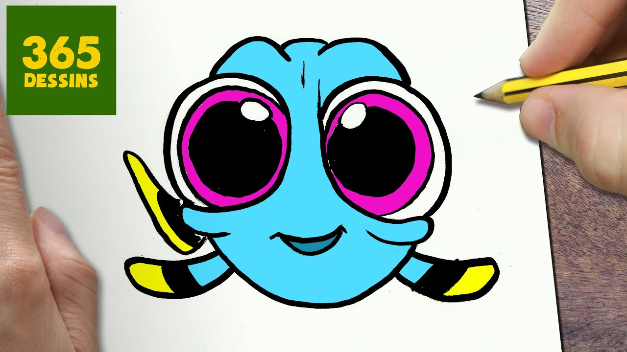 Comment dessiner dory b b kawaii tape par tape dessins kawaii facile youtube - Dessin de disney facile ...