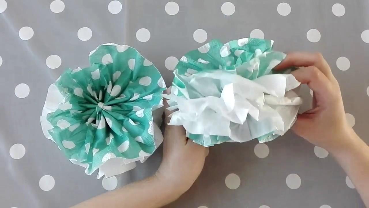 Wonderbaar DIY: bloemen vouwen van servetten - YouTube GY-92