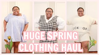 HUGE PLUS SIZE SPRING TRY ON CLOTHING HAUL 2021 | FASHION TO FIGURE, ASOS, NASTY GAL, RIVER ISLAND