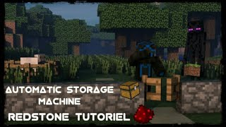 How to make a automatic storage machine in minecraft