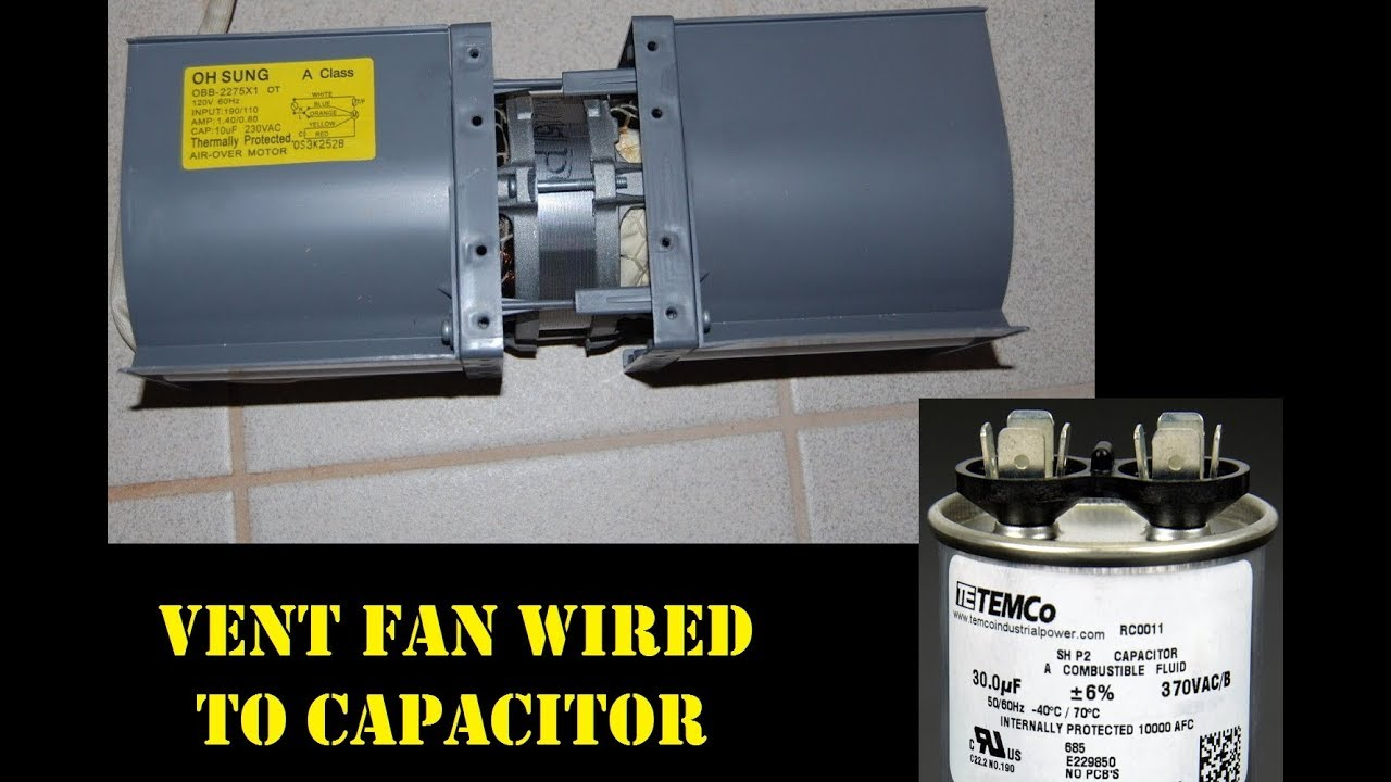 recovered microwave vent fan how to wire and use for venting  [ 1280 x 720 Pixel ]