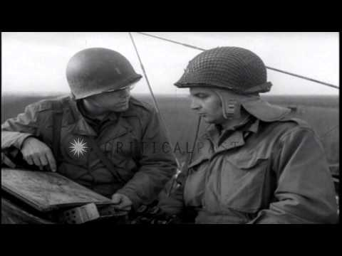 US 9th Army on the offensive in Linnich,Germany, during World War II. HD Stock Footage