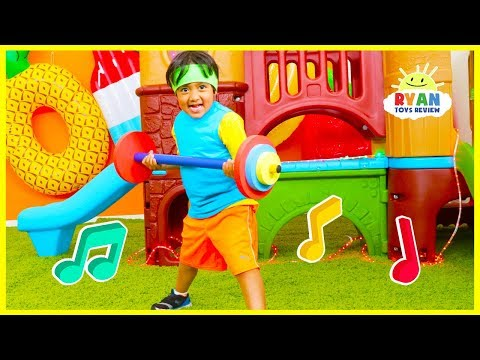 Body Parts Exercise Songs for Children 🎵 You Can Do It Too 🎵 Ryan ToysReview!