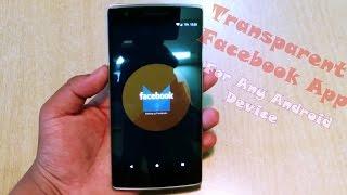 Gambar cover Transparent Facebook App APK Download !