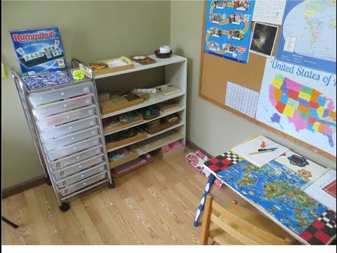 What we took in a typical homeschool day (Workbox/Montessori)