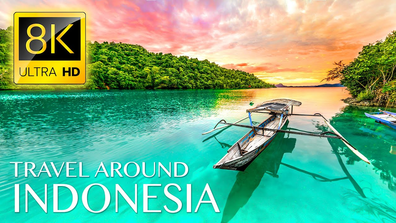 Discover INDONESIA in 8K ULTRA HD • Travel with Relaxing Music and Ambient Drone Films