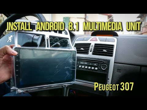 Install Android 9 inch Multimedia Unit - Peugeot 307 - Links in Clip Description