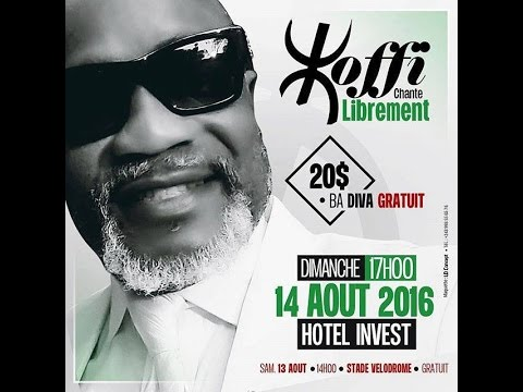KOFFI OLOMIDE AGBADA: CHANTE LIBREMENT DIMANCHE 17HO0 14 AOUT 2016 A HOTEL INVEST