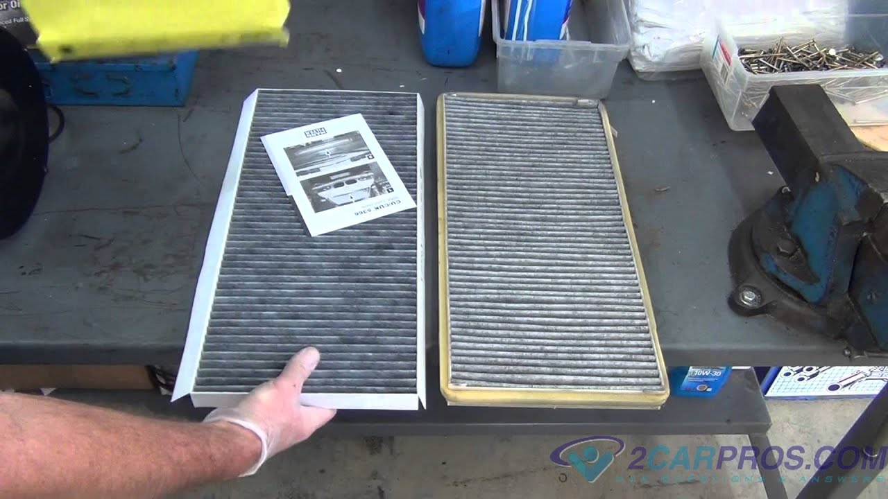 Air Cabin Filter Replacement BMW X5 2000 2006   YouTube