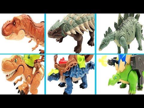 Jurassic World2 Dinosaur Transformer Dino Robot! T Rex Ankylosaurus Stegosaurus Toys For Kids