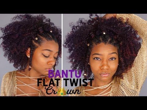 Natural Black Summer Hairstyles: Flat Twist Bantu Knot Crown Hair | The Mane Choice
