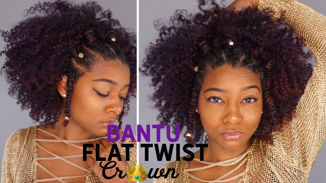 Natural Black Summer Hairstyles Flat Twist Bantu Knot Crown Hair