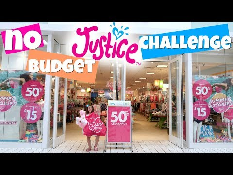 NO BUDGET SHOPPING CHALLENGE AT JUSTICE!!