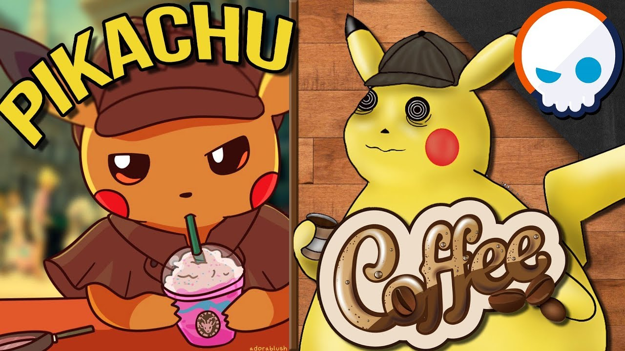 What If Detective Pikachu Really Drank Coffee Gnoggin Pokemon