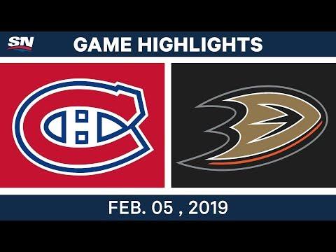 NHL Highlights | Ducks vs. Canadiens - Feb. 5, 2019