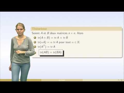 Matrices - partie 6 : matrices triangulaires, transposition, trace, matrices symétriques