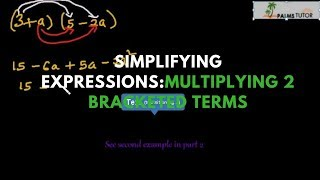 Multiplying 2 bracketed terms part 2