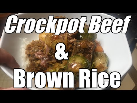 Bodybuilding Cooking 101: Crockpot Beef & Brown Rice Post workout Meal 4k