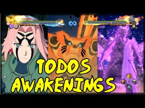 Naruto Shippuden: Ultimate Ninja Storm 4   TODOS OS AWAKENINGS + JUTSUS
