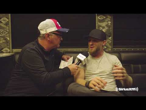 Buzz Brainard chats with Brantley Gilbert backstage at B&H Music Festival