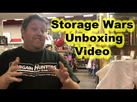 Storage Wars we are unboxing some items we bought at Auction at the Store   L@@K