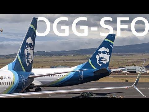 Alaska 814 - Maui (Kahului), HI To San Francisco, CA - Economy (Exit Row) - B737-800