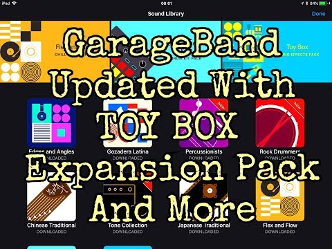 GARAGEBAND - 100% FREE - Update Tutorial - Now With TOY BOX Sound Pack - for iPad
