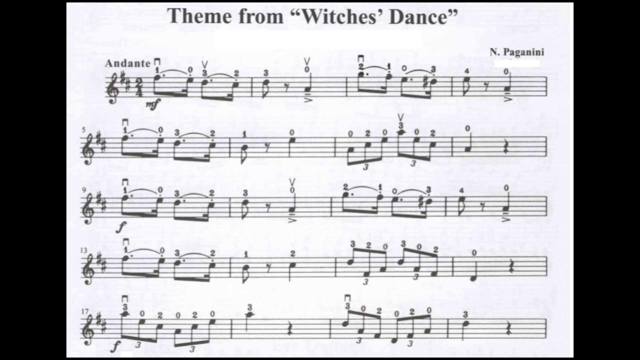 Witches Dance Suzuki Violin