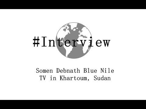 Somen Debnath Blue Nile TV in Khartoum, Sudan