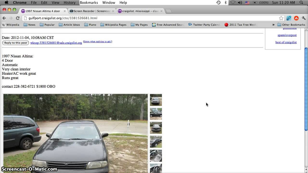 Craigslist Biloxi MS Used Cars, Trucks and Vans - For Sale by Owner ...