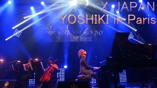 """X JAPAN"" YOSHIKI 伝説、絵画とのコラボ、HIDEへの想い、そして...。Japan Expo Paris LIVE stage 2014"