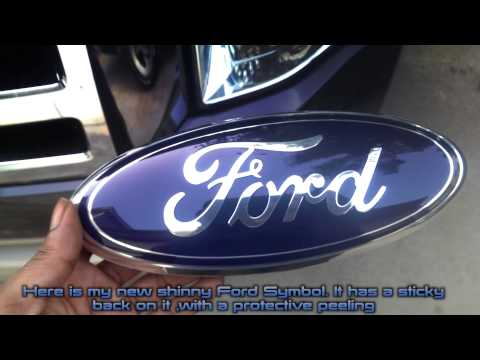How to replace  faded Ford Emblem