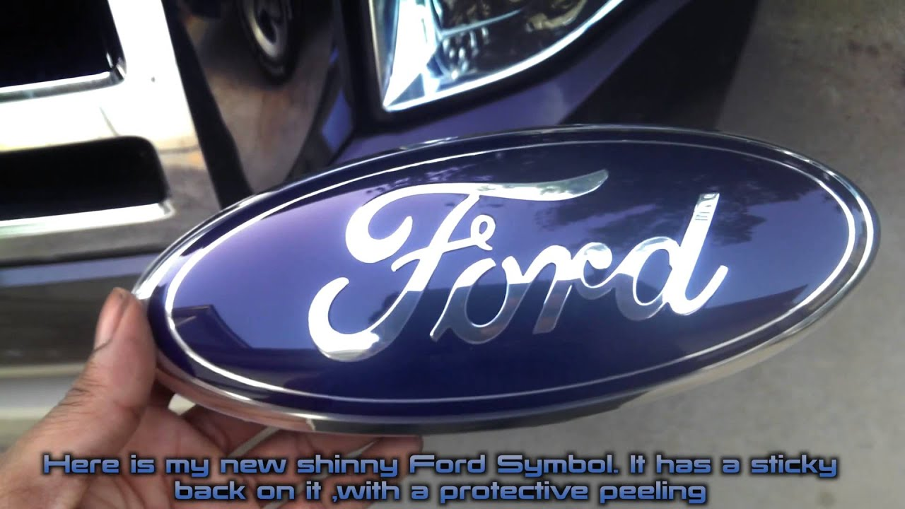 How To Replace Faded Ford Emblem Youtube