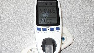 Портативный счетчик электроэнергии, энергометр(Китайский энергометр, портативный счетчик электроэнергии. Показывает потребляюмую мошность, напряжение,..., 2014-03-23T16:35:59.000Z)