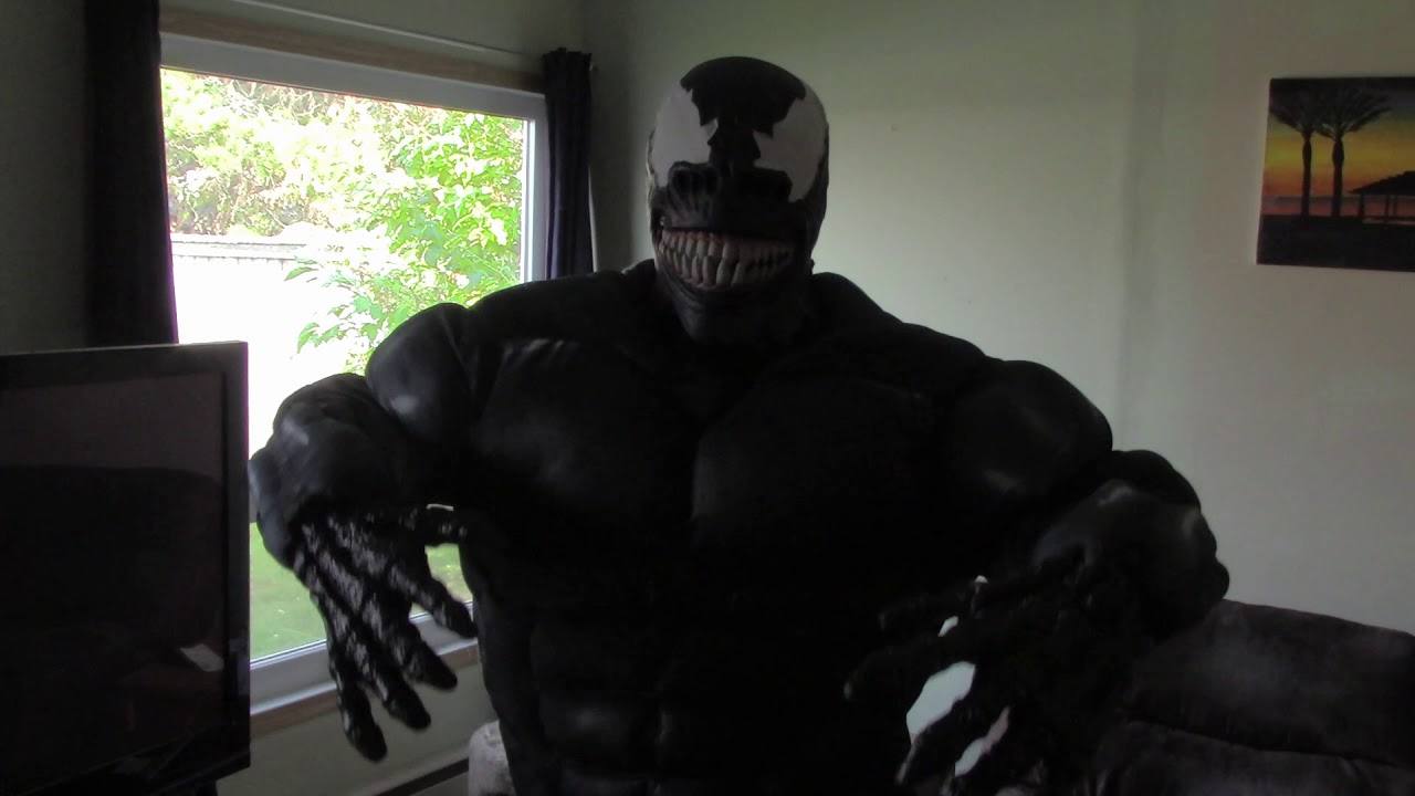 Venom Cosplay Venom Movie 2018 Costume Youtube