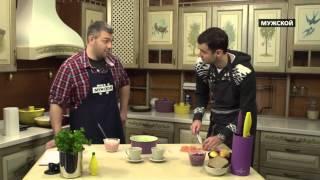 Александр Гаврилин готовит салат из сёмги с яблоком. Моя Кухня 81