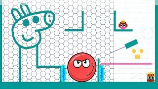 Red Ball 4 Vs Love balls - Love Balls Peppa Pig Daily Level Gameplay Walkthrough (iOS)