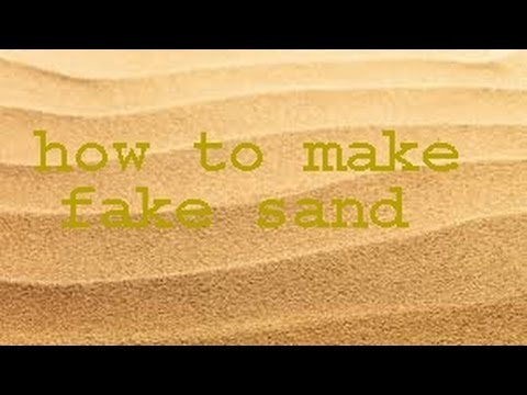 how to make fake sand with just oil and flour  YouTube