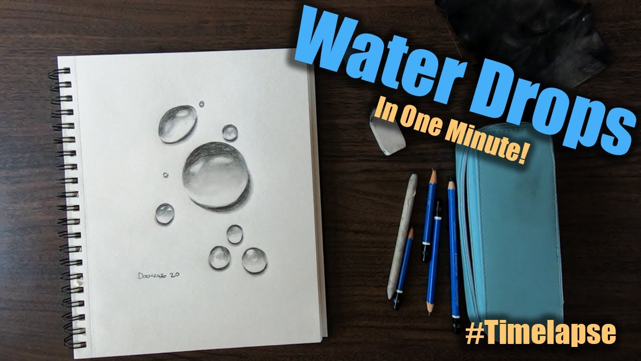 Draw Realistic Water Drops: Time-lapse | Palette Passions Studio