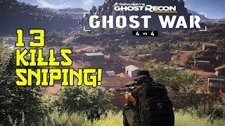 SUPER INTENSE 13 Kill Sniper Gameplay!! (We Still Lost)   Ghost War PVP