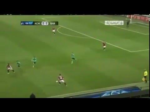 Clarence Seedorf humiliates Messi   Ac Milan vs Fc Barcalona