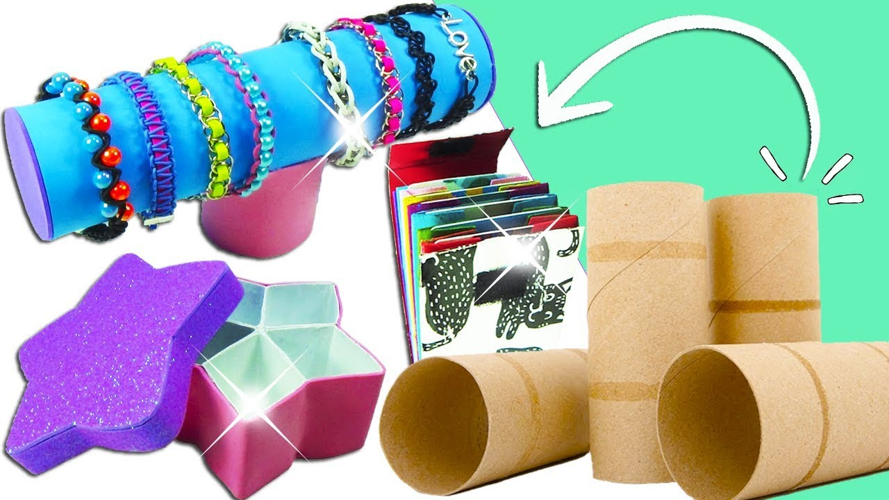 3 ideas con tubos de cart n reciclaje ecobrisa youtube - Tubos de carton decorados ...