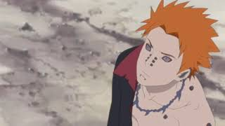 Naruto transforming into eight tails vs Pain! Eng sub