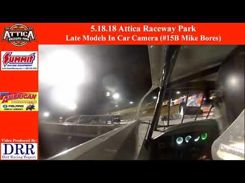 5.18.18 Attica Raceway Park Late Model In Car Camera