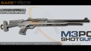 [UG-34] Breloczek broń replika M3 Shotgun Counter Strike gun [www.safetrade.pl]